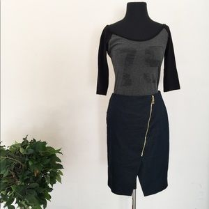 Vince Camuto Navy Pencil Skirt Size 4